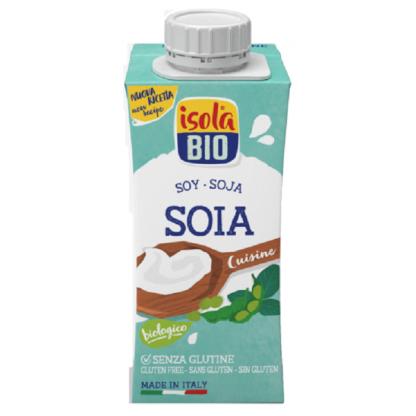 Crema BIO din soia pt gatit Isola Bio 200ml (fara gluten, fara lactoza)