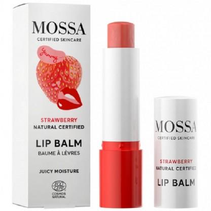 Balsam de buze cu capsune Juicy Moisture 4g Mossa Organic