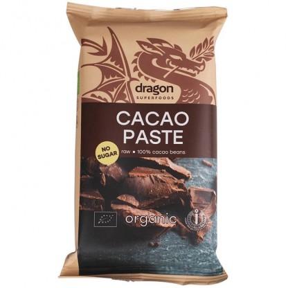 Pasta de cacao raw bio 180g Dragon Superfoods