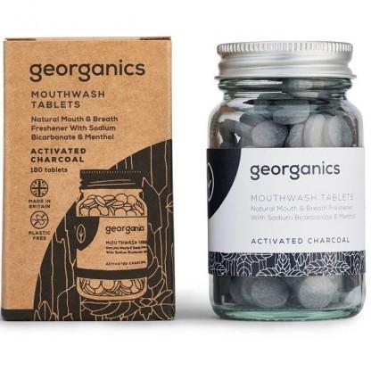 Tablete pentru igiena orala Charcoal (apa de gura) 180buc Georganics