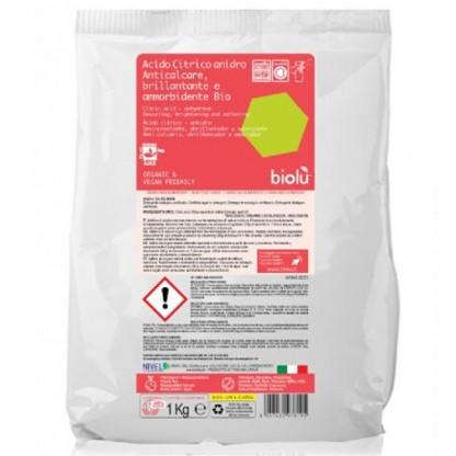 Acid citric ecologic pentru rufe 1Kg Biolu