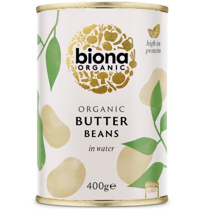 Fasole alba uriasa BIO (fara sare) 400g Biona
