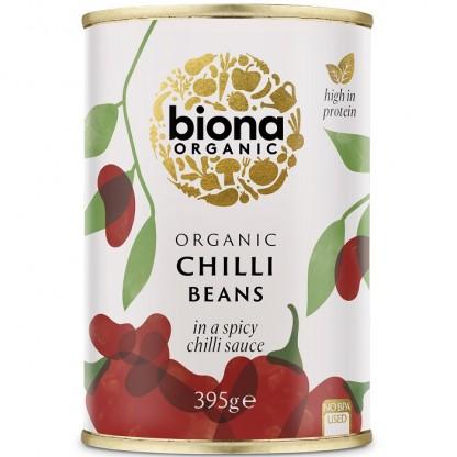 Fasole rosie in sos chilli BIO 395g Biona