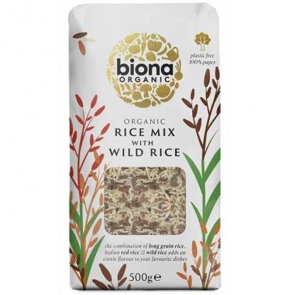 Orez mixt cu orez salbatic bio 500g Biona