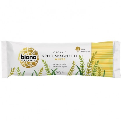 Spaghetii din grau spelta alb BIO 500g Biona