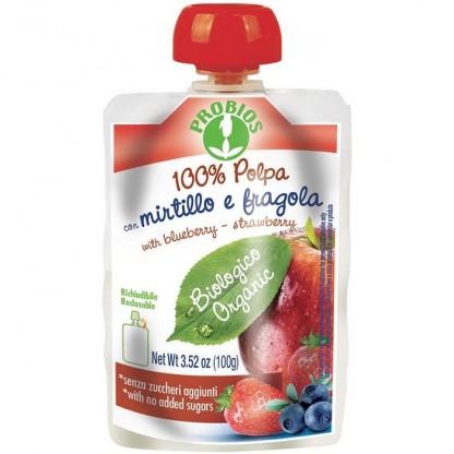 Piure de mere, afine, capsuni (fara zahar) 100g Probios