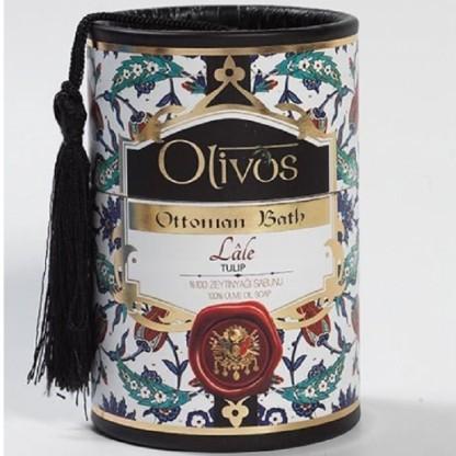 Sapun de lux Otoman Tulip cu ulei de masline extravirgin 2*100g Olivos