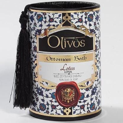 Sapun de lux Otoman Lotus cu ulei de masline extravirgin 2*100g Olivos