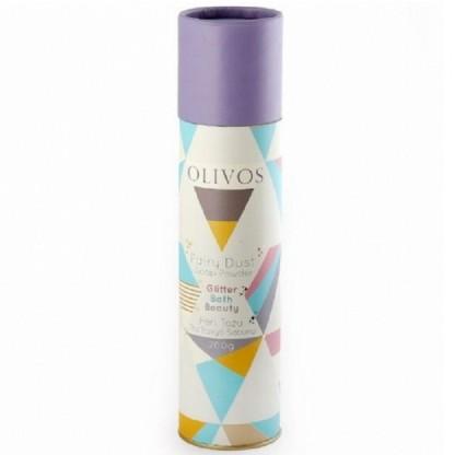 Pudra de sapun spumant si exfoliant de baie, cu particule de sclipici si ulei de masline 200g Olivos