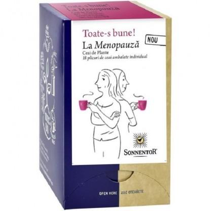 Ceai ecologic Toate-s bune – La menopauza 18 pliculete Sonnentor