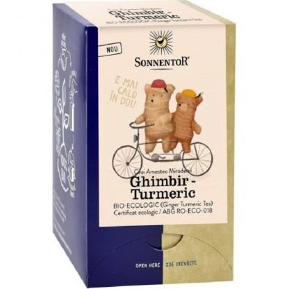 Ceai bio Ghimbir Turmeric 18 pliculete Sonnentor