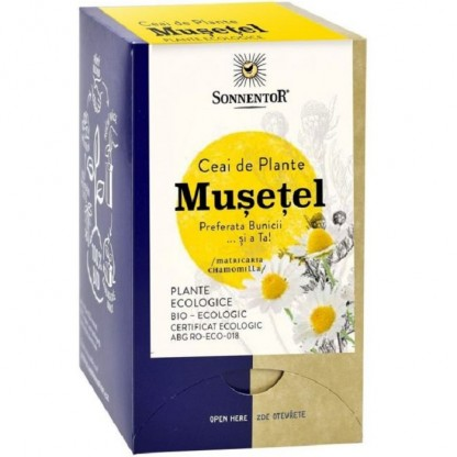 Ceai Flori de musetel Eco 18 pliculete Sonnentor