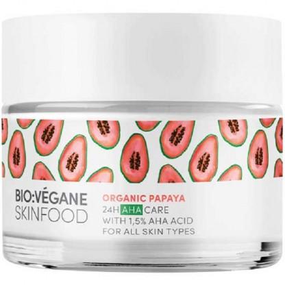 Crema de fata cu papaya si acizi AHA 24H Care 50ml Bio:Vegane Skincare