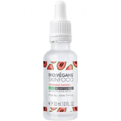 Serum de noapte cu papaya si acizi AHA 30ml Bio:Vegane Skincare