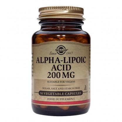 Alpha Lipoic Acid 200mg 50cps vegetale Solgar