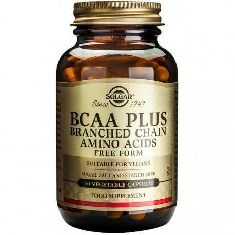 BCAA Plus (Aminoacizi cu catena ramificata) 50 cps vegetale Solgar
