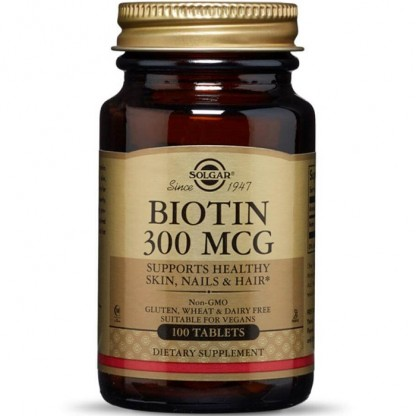 Biotin (Biotina / Vitamina B7) 300mcg 100 tablete Solgar