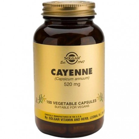 Cayenne (Ardei Iute) 520mg 100 capsule vegetale Solgar
