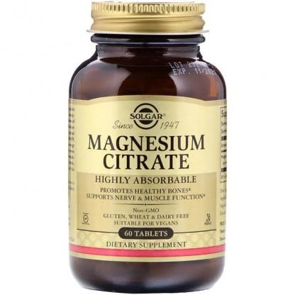 Magnesium Citrate (Citrat de magneziu) 200mg 60 tablete Solgar