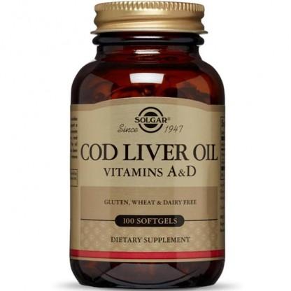 Cod Liver Oil (Ulei din ficat de cod) 100 capsule Solgar