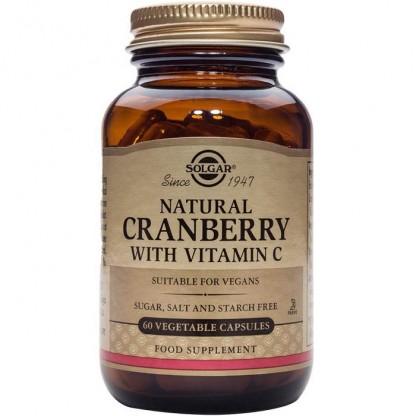 Cranberry Extract cu Vitamina C (Extract de Merisoare) 60 capsule Solgar
