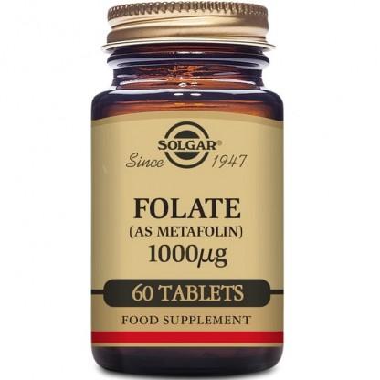 Folate (ca Metafolin) (Acid folic) 1000mcg 60 tablete Solgar