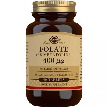 Folate (ca Metafolin) (Acid folic) 400mcg 50 tablete Solgar