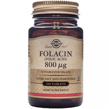 Folacin (Acid Folic) 800ug 100cps vegetale Solgar