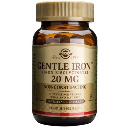 Gentle Iron (Fier) 20mg 90 capsule vegetale Solgar