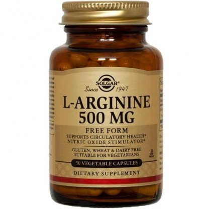 L-Arginine (Aminoacid L-Arginina) 500mg 50 capsule vegetale Solgar