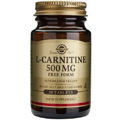 L-Carnitine (L-carnitina) 500mg 30 capsule vegetale Solgar