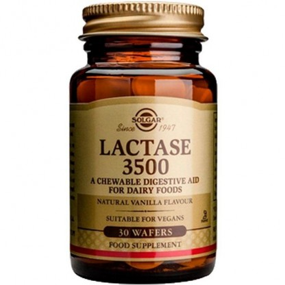 Lactase 3500 (Lactaza) 30 tablete masticabile Solgar