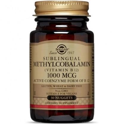 Methylcobalamin (Vitamina B12) 1000mcg 30 tablete (Metilcobalamina) Sublinguale Solgar