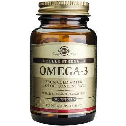 Omega 3 dublu concentrat (Ulei de peste) 700mg 30 capsule moi Solgar