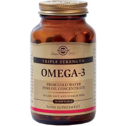 Omega-3 Triple Strength (Ulei de peste) 1400mg 50 capsule moi Solgar