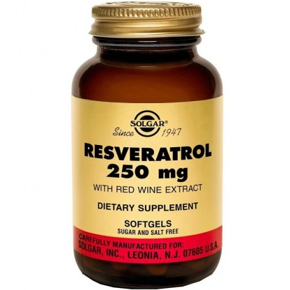 Resveratrol 250mg cu extract de vin rosu 30 capsule vegetale Solgar