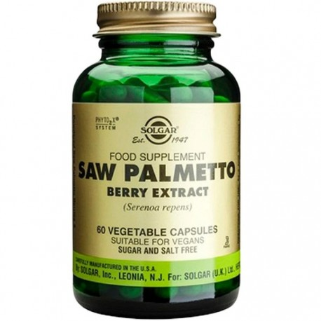 Saw Palmetto Berry Extract (Palmier pitic) 60 capsule vegetale Solgar