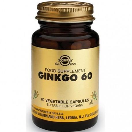 Ginkgo Biloba - Extract din frunze 60 capsule vegetale Solgar