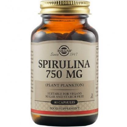 Spirulina 750mg 80 tablete Solgar