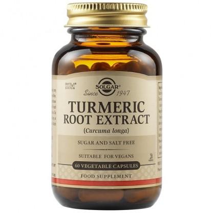 Turmeric Root Extract (Extract din radacina de Turmeric) 60 capsule vegetale Solgar
