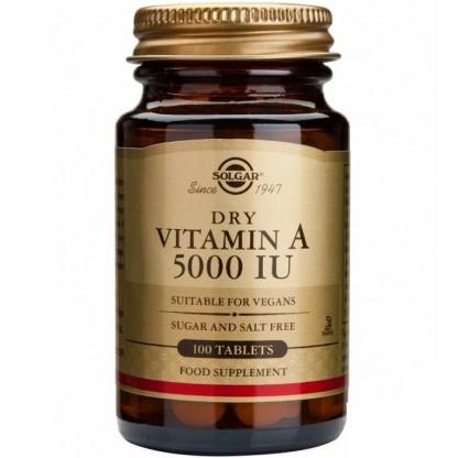 Vitamina A 5000iu 100 tablete Solgar