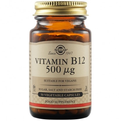 Vitamina B12 500ug 50 capsule vegetale Solgar