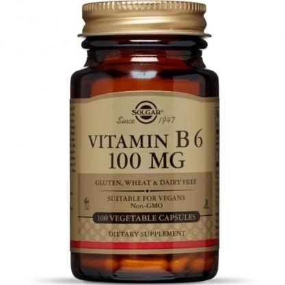 Vitamina B6 100mg 100 capsule vegetale Solgar