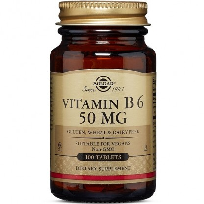 Vitamina B6 50mg 100 tablete Solgar