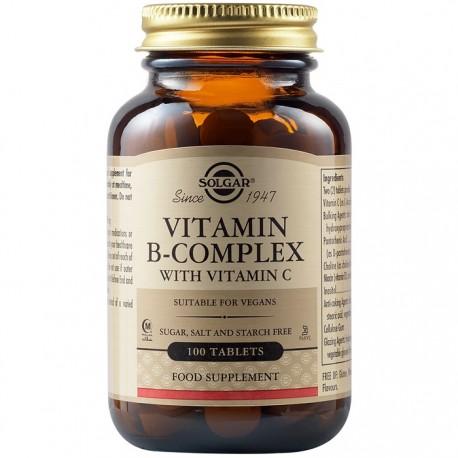 Vitamina B-Complex Cu Vitamina C 100 tablete Solgar