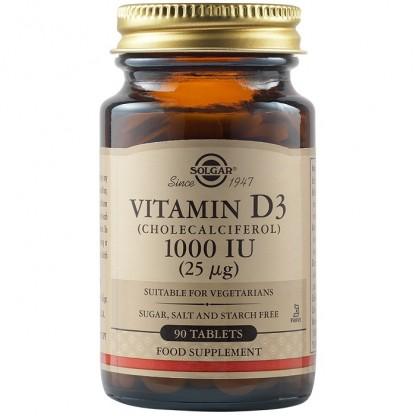 Vitamina D3 1000 iu 90 tablete Solgar