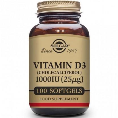 Vitamina D3 1000iu 100 capsule moi Solgar