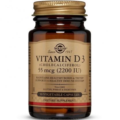 Vitamina D3 2200IU 50 capsule vegetale Solgar