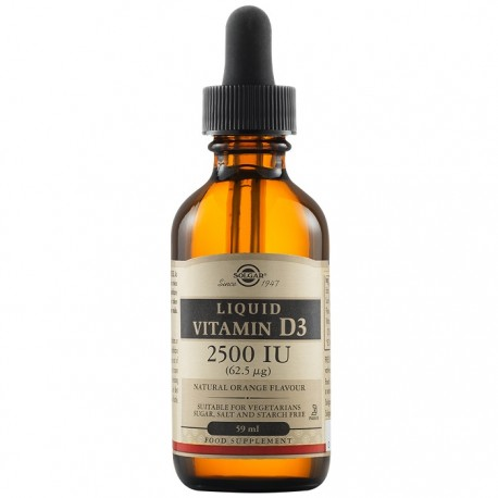 Vitamina D3 2500 UI (62,5 mcg) Lichid 59ml Solgar