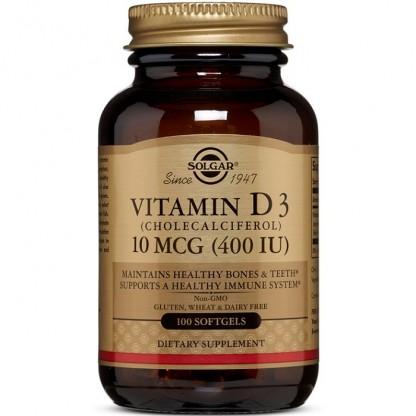 Vitamina D3 400iu 100 capsule moi Solgar